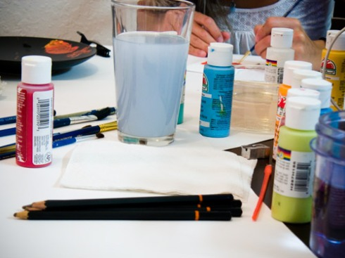 some of our paint supplies